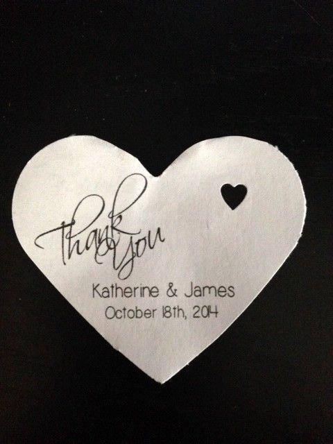 Wedding Favor Thank You Tag Elegant Personalized Heart Shape Wedding Favor Gift Thank You Tags