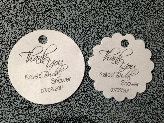 Wedding Favor Thank You Tag Fresh Personalized Round Wedding Bridal Shower Thank You Favor Tags