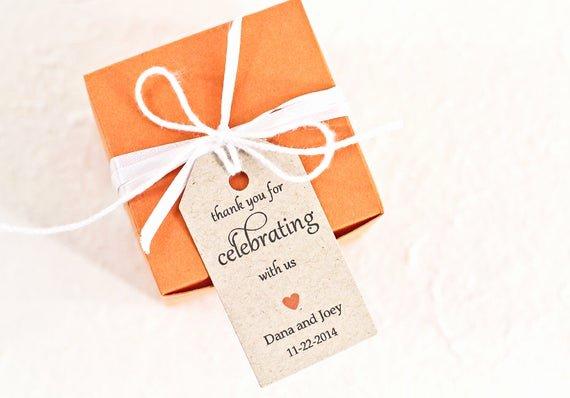 Wedding Favor Thank You Tag Fresh Wedding Favor Tag Personalized Thank You Tag Bridal by Idotags
