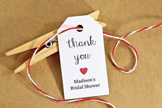 Wedding Favor Thank You Tag Fresh Wedding Favor Tags Gift Tags Thank You Tags Bridal by Idotags