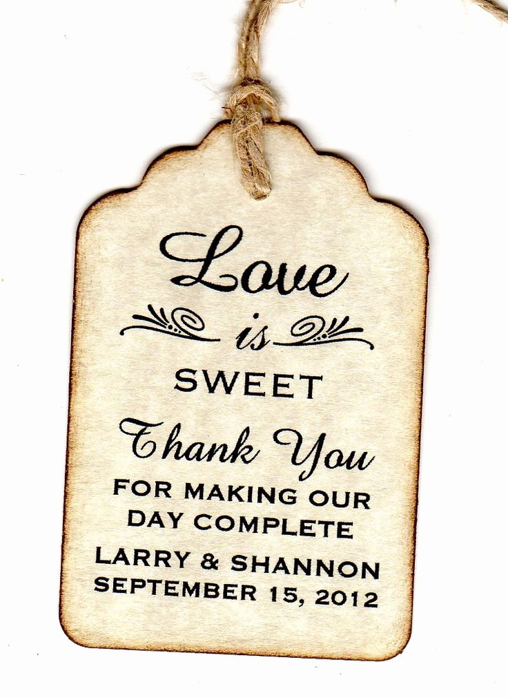 Wedding Favor Thank You Tag Inspirational 100 Wedding Favor Gift Tags Place Card Escort Tags Thank You Tags Bridal Shower Tags Love is