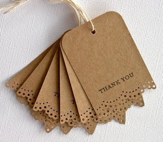 Wedding Favor Thank You Tag Inspirational Wedding Favor Gift Tags Thank You Lace Trim Set Of 25