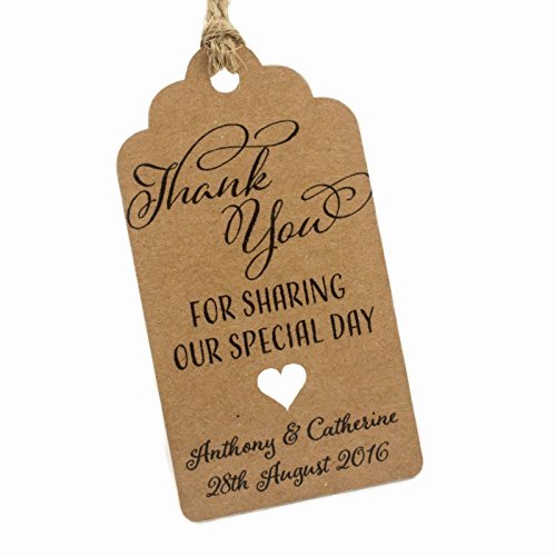 Wedding Favor Thank You Tag Lovely Thank You Tags for Wedding Favors Amazon