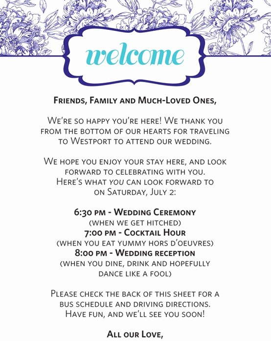 Wedding Hotel Welcome Letter Template Awesome Ramada Bloomington at the Mall Wel Ing Your Out Of town Guests