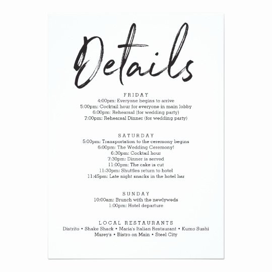 Wedding Hotel Welcome Letter Template Awesome Wedding Itinerary Hotel Wel E Letter Zazzle Wedding Extras In 2019