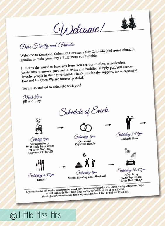 Wedding Hotel Welcome Letter Template Best Of Printable Wedding Wel E Letter Timeline Of events Weekend Itineraries Wedding Weekend