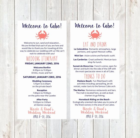 Wedding Hotel Welcome Letter Template Elegant Wel E Letter Wedding Itinerary Hotel Wel E Letter Wel E Bag Destination Wedding