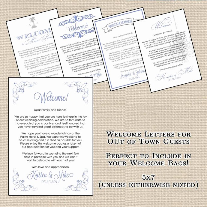 Wedding Hotel Welcome Letter Template Fresh Hotel Wel E Bag Letters and Wedding by Designsbydvb On Zibbet