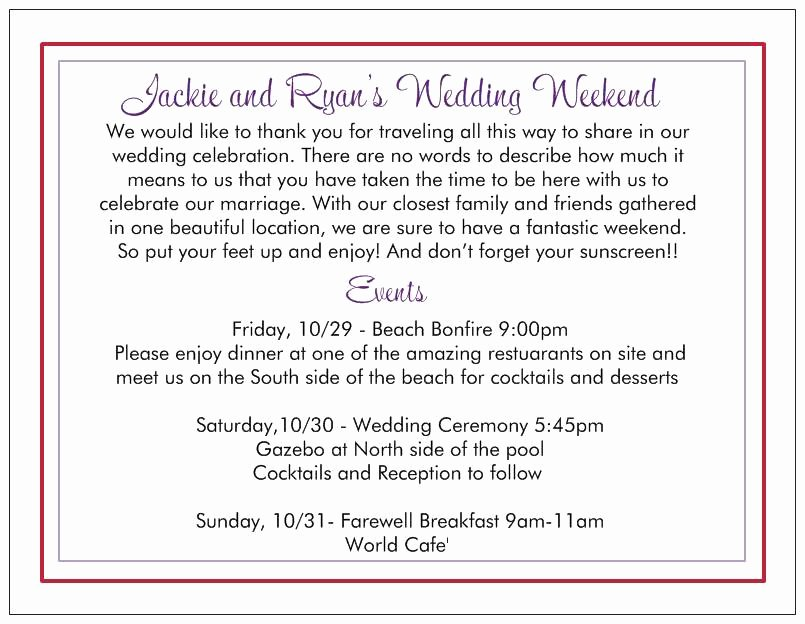 Wedding Hotel Welcome Letter Template Inspirational Wedding Wel E Letter