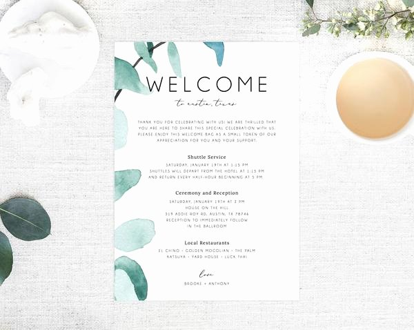 Wedding Hotel Welcome Letter Template Inspirational Wel E Letter