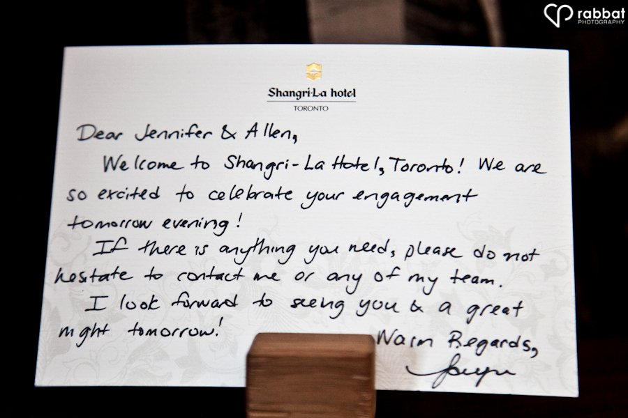 Wedding Hotel Welcome Letter Template Luxury Jennifer and Allen S Engagement Party at the Shangri La Hotel