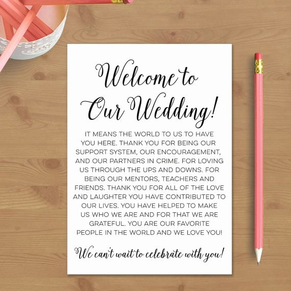 Wedding Hotel Welcome Letter Template Unique Printable Wedding Wel E Letter Instant Download Destination Wedding Wel E…
