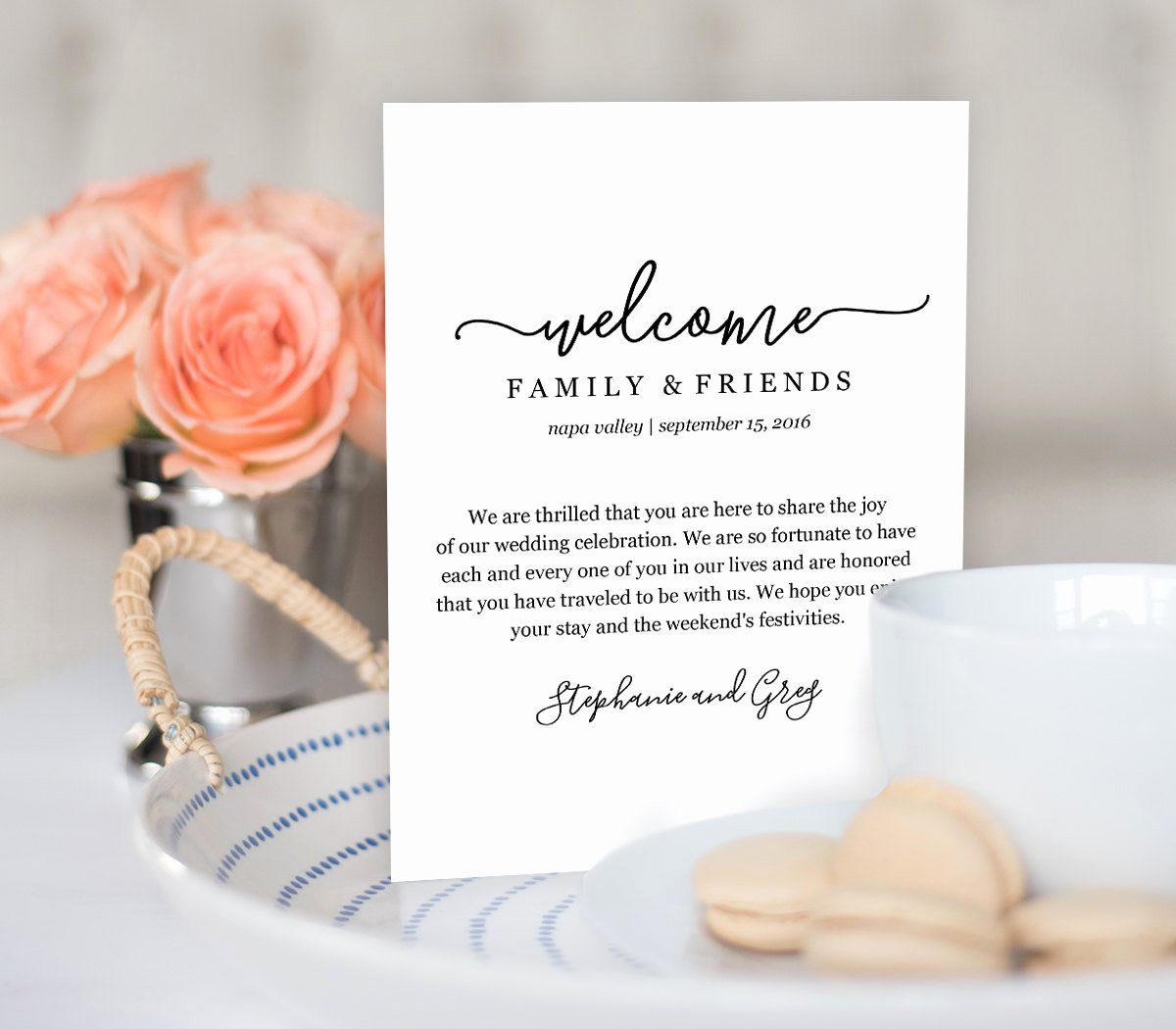 Wedding Hotel Welcome Letter Template Unique Wedding Wel E Bag Note Wel E Bag Letter Printable