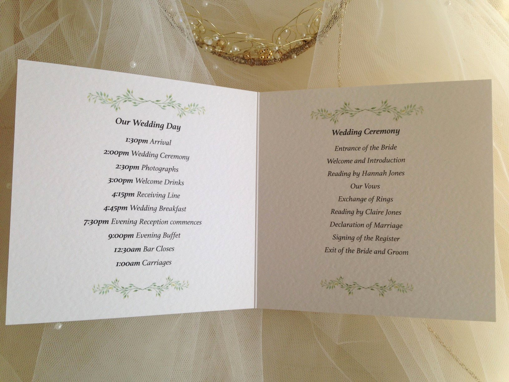 Wedding orders Of Service Template Lovely order Of Service Wedding Template Daisy Chain Invites