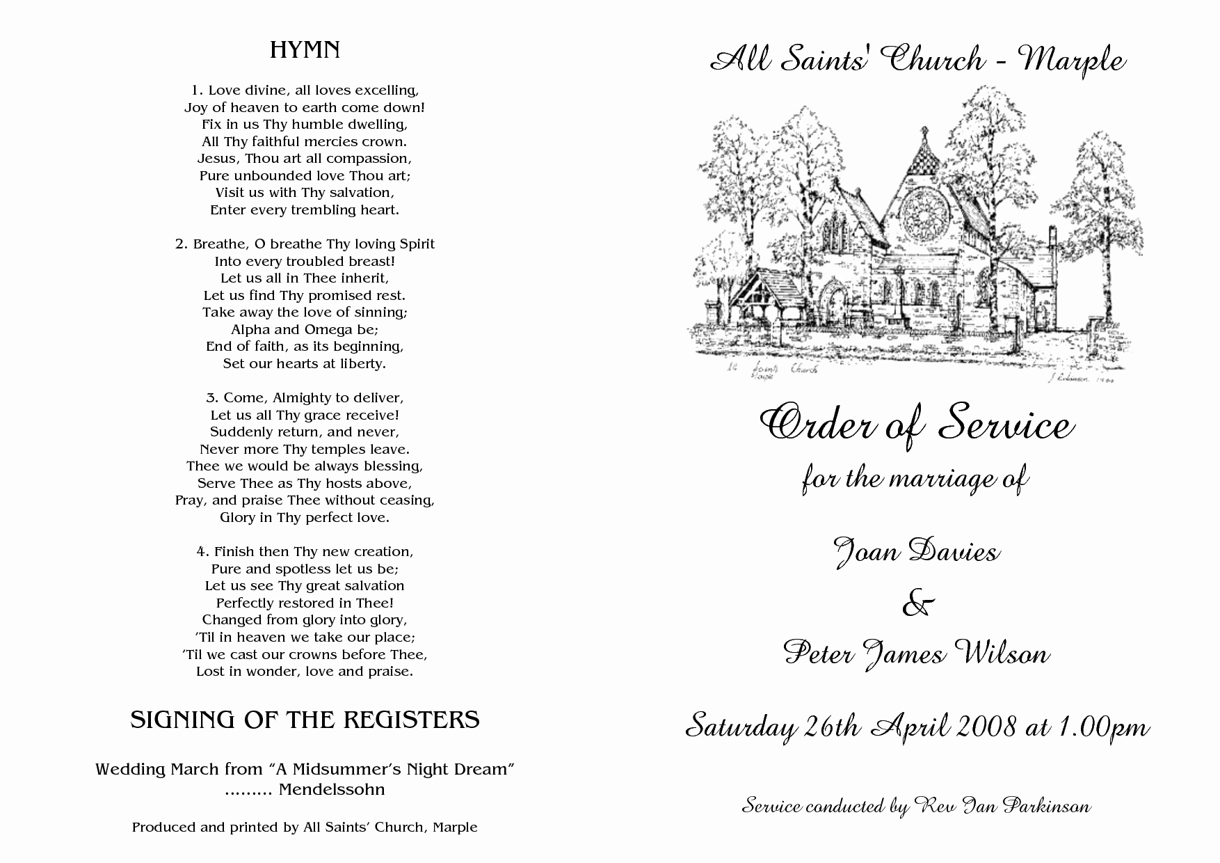 Wedding orders Of Service Template New Best S Of Template Wedding Ceremony Sample