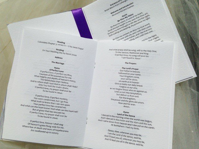 Wedding orders Of Service Template New order Of Service Books for Weddings