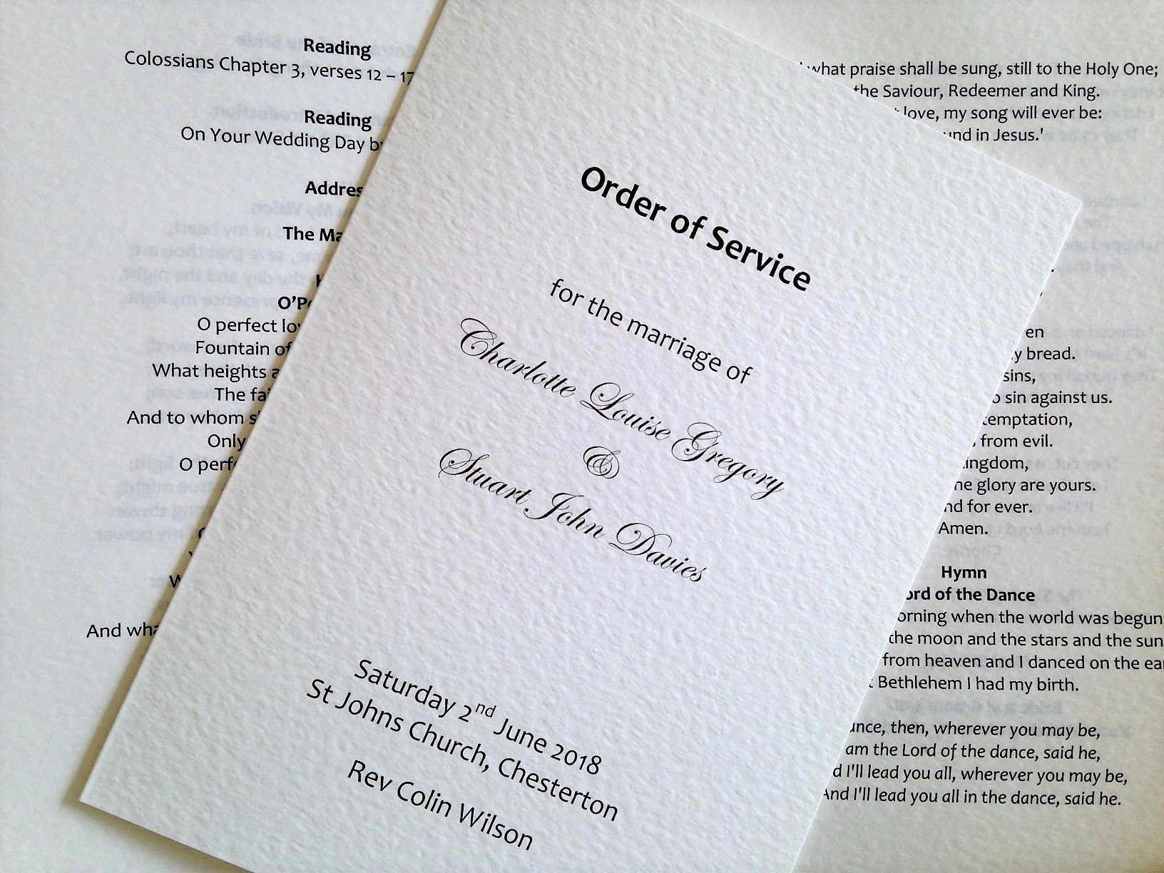 Wedding orders Of Service Template New order Of Service Wedding Template Daisy Chain Invites
