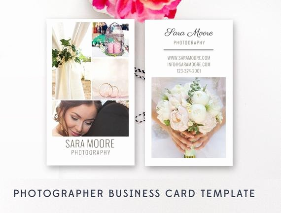 Wedding Photography Business Cards Beautiful Vertical Business Card Template Wedding Graphy Business