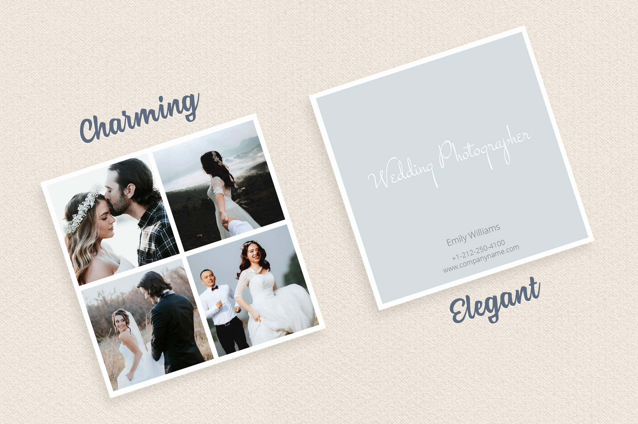 Wedding Photography Business Cards Fresh Square Polaroid Wedding Grapher Business Card