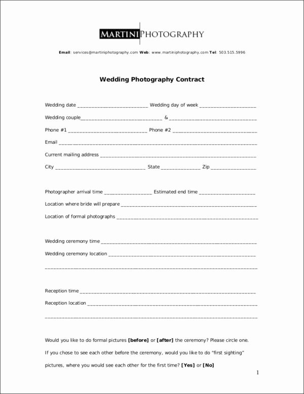 Wedding Photography Contract Pdf Awesome 23 Graphy Contract Templates and Samples In Pdf