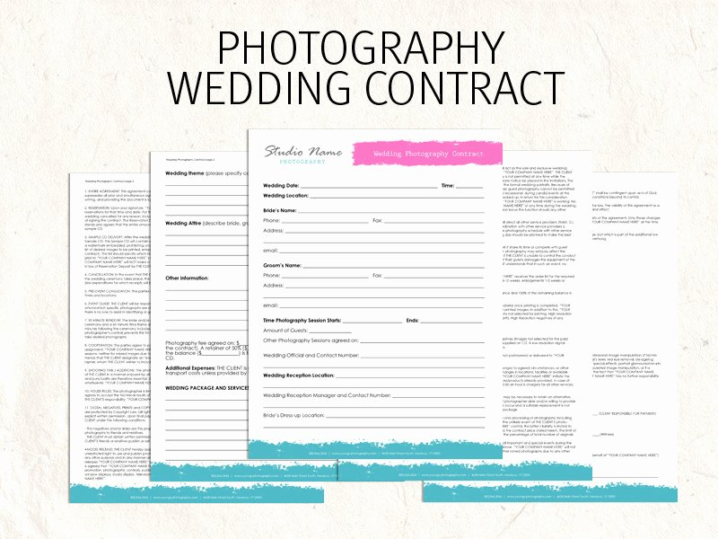Wedding Photography Contract Pdf Lovely Wedding Graphy Contract Template
