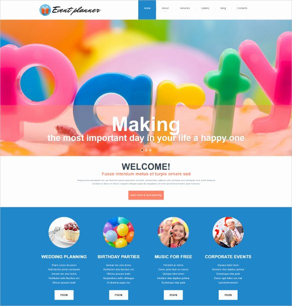 Wedding Planner Website Template Beautiful 20 event HTML5 themes & Templates