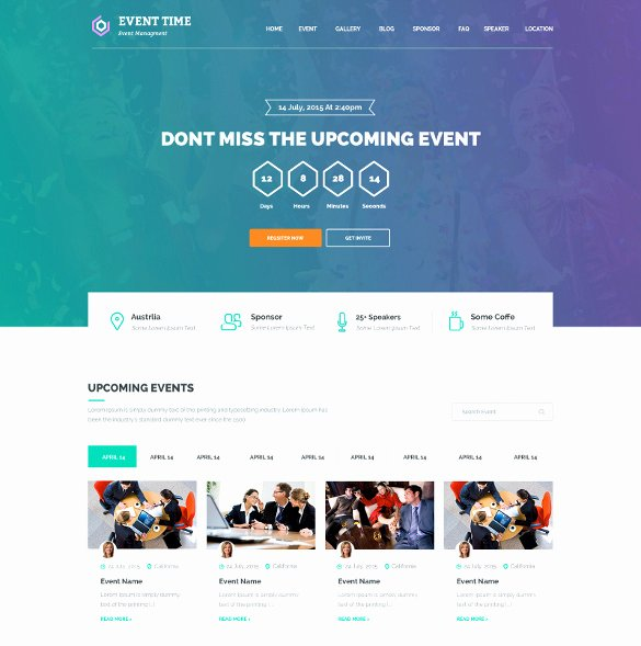 Wedding Planner Website Template Beautiful 33 event Planning Website themes & Templates