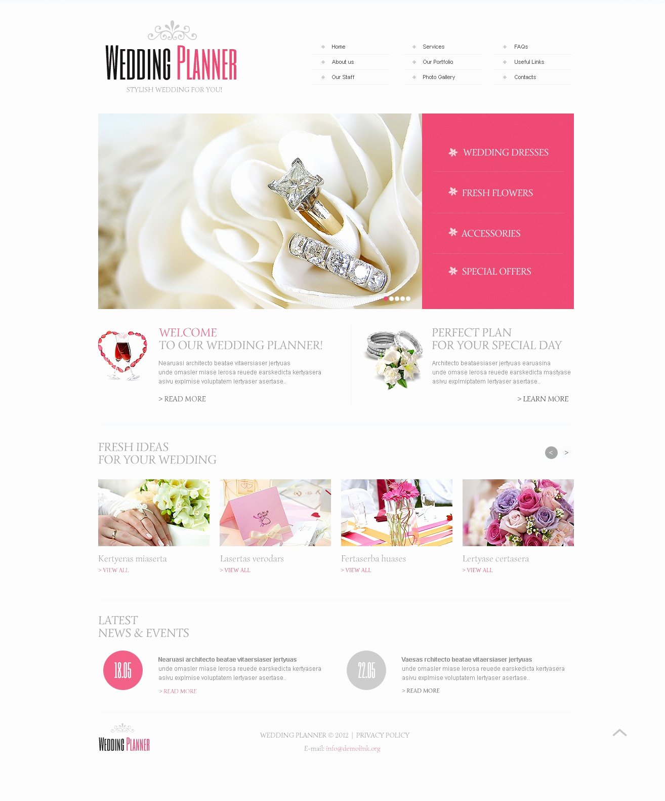 Wedding Planner Website Template Beautiful Wedding Planner Website Template