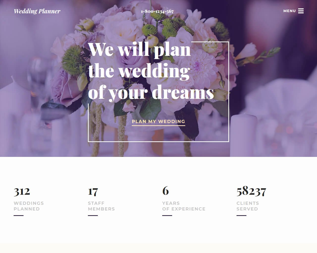 Wedding Planner Website Template Fresh 20 Best Wedding Website Templates for Your Special Day 2018 Templatemag