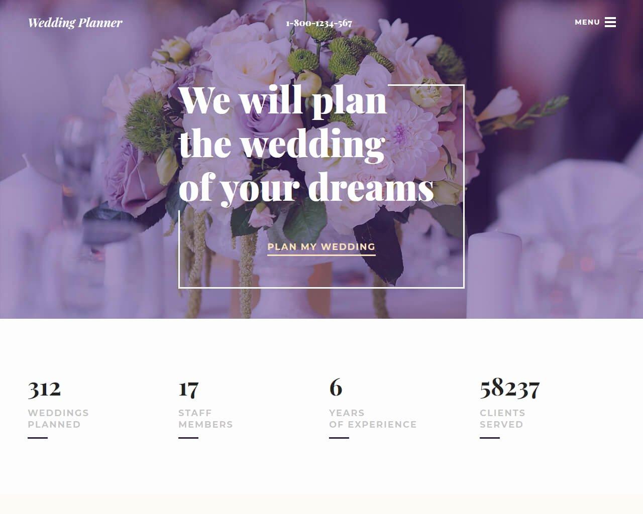 Wedding Planner Website Template Fresh 20 Best Wedding Website Templates for Your Special Day 2018 Templatemag