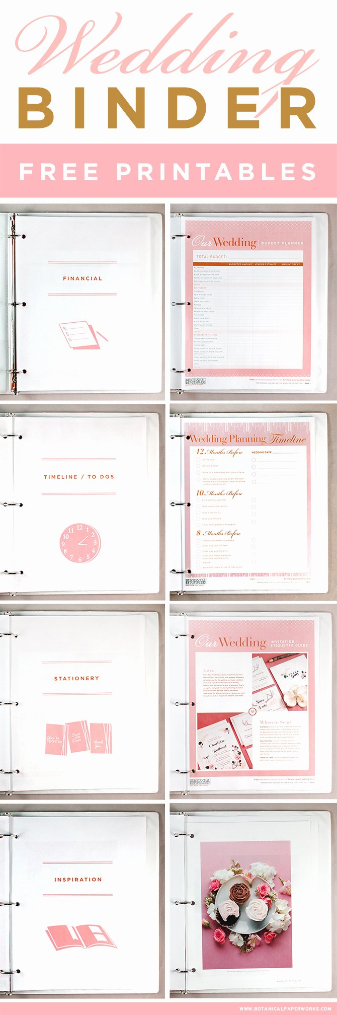 Wedding Planner Website Template Fresh Free Printables Wedding Planning Binder Blog