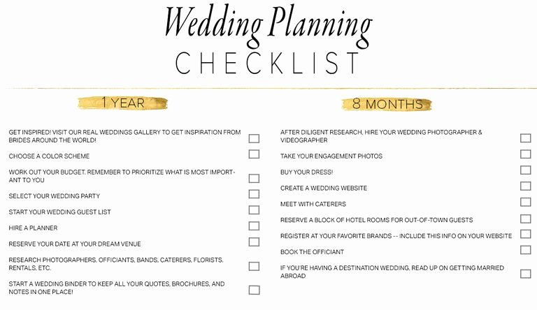Wedding Planner Website Template Inspirational 11 Free Printable Checklists for Your Wedding Timeline