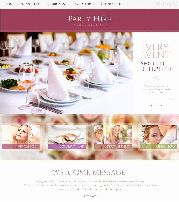 Wedding Planner Website Template Lovely 21 event Website themes & Templates