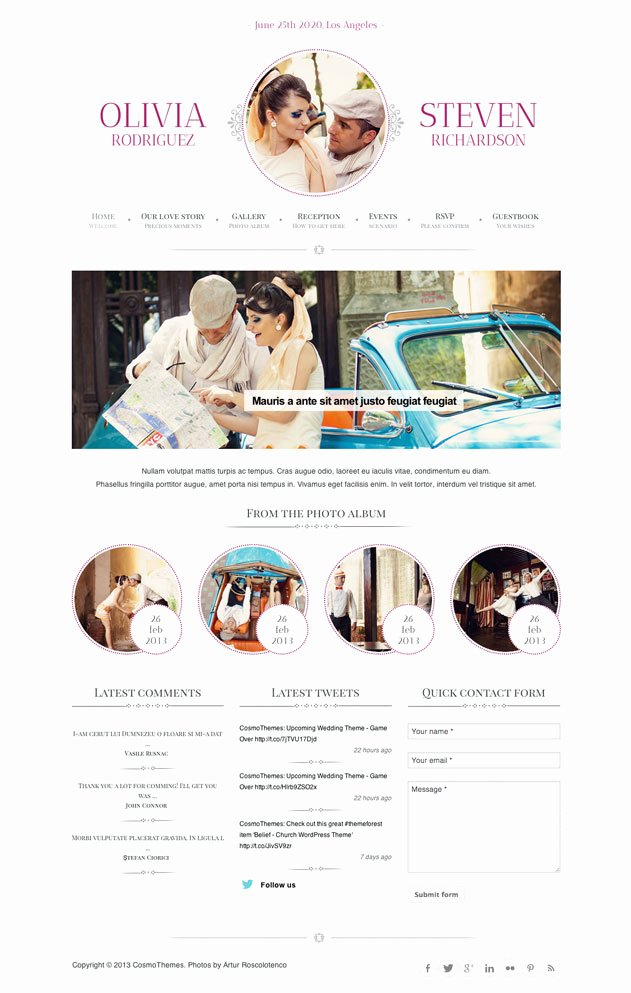 Wedding Planner Website Template Lovely Best Free & Premium Wedding Website Templates