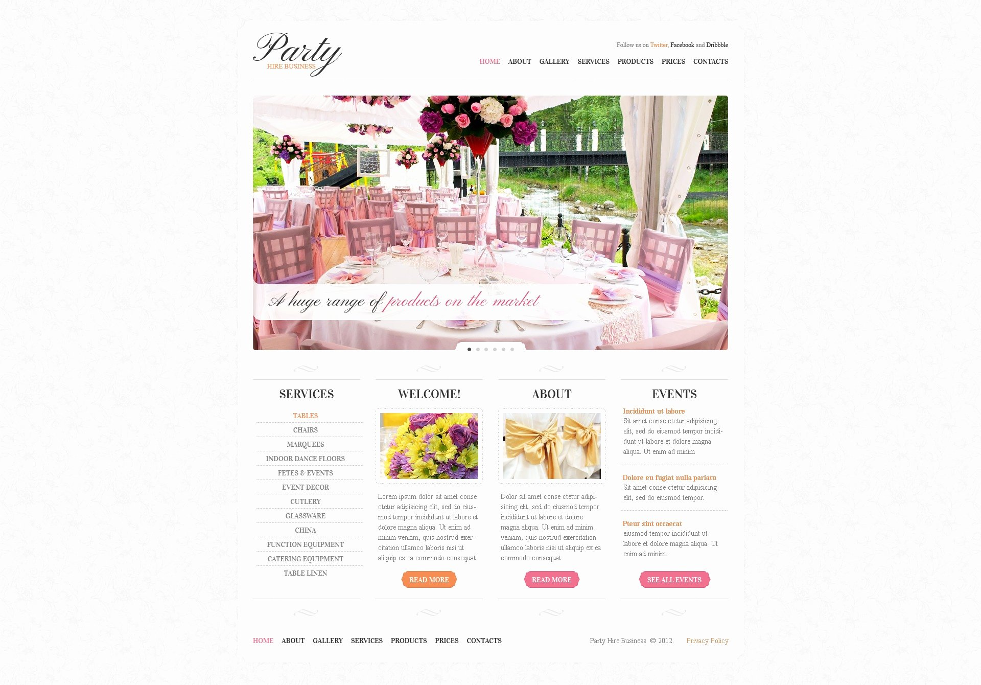 Wedding Planner Website Template Luxury event Planner Website Template