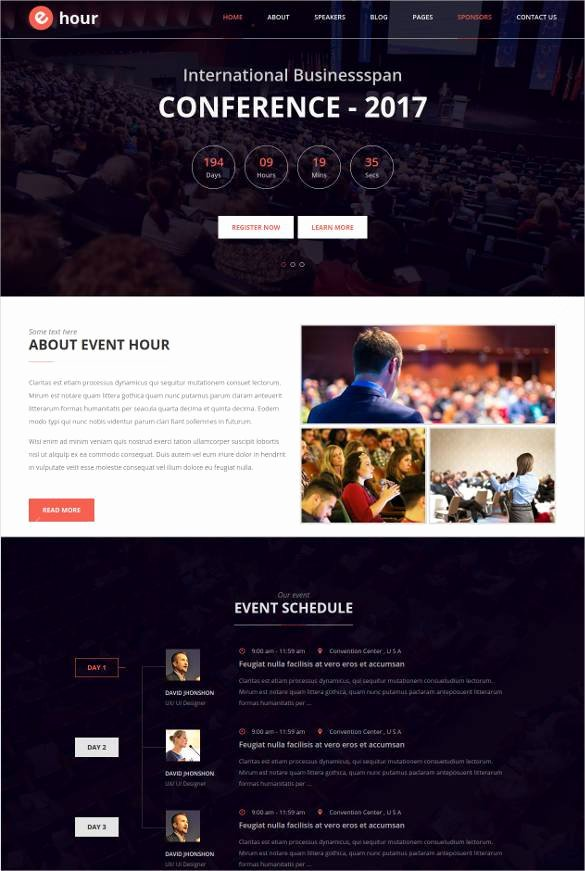Wedding Planner Website Template New 33 event Planning Website themes & Templates
