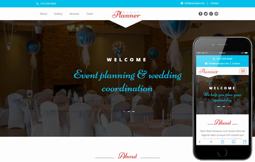 Wedding Planner Website Template New event Planner A Wedding Category Flat Bootstrap Responsive Web Template