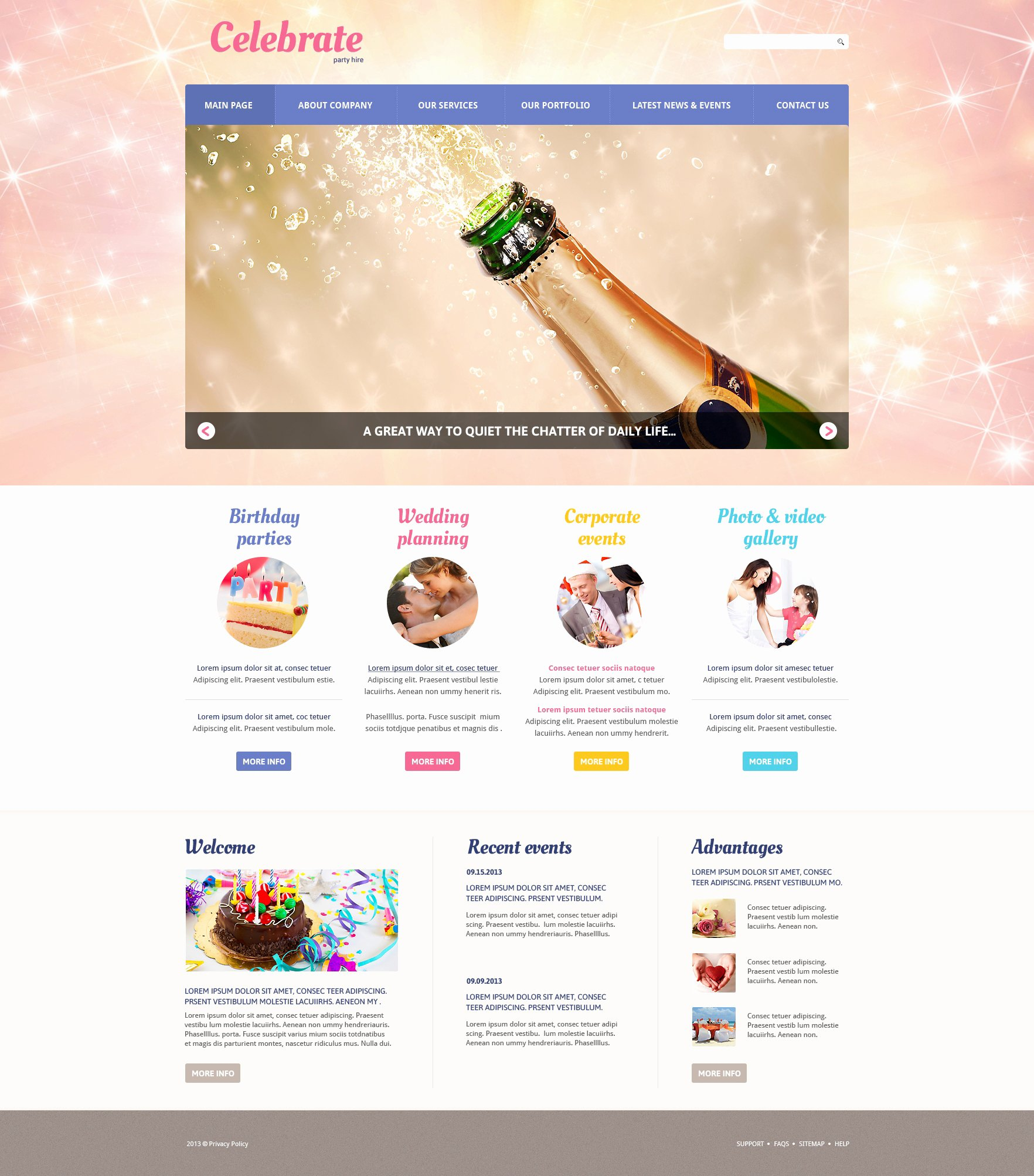 Wedding Planner Website Template Unique event Planner Responsive Joomla Template