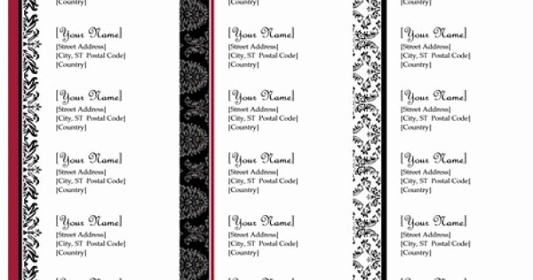 Wedding Return Address Label Templates Awesome Return Address Labels Black and White Wedding Design