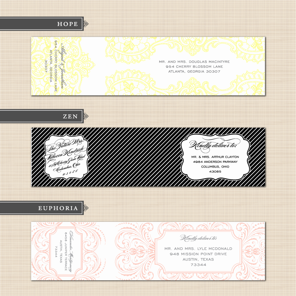 Wedding Return Address Label Templates Best Of Belletristics Stationery Design and Inspiration for the