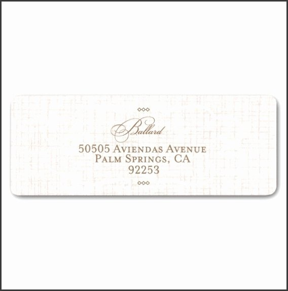 Wedding Return Address Label Templates Elegant 6 Wedding Address Label Template Download