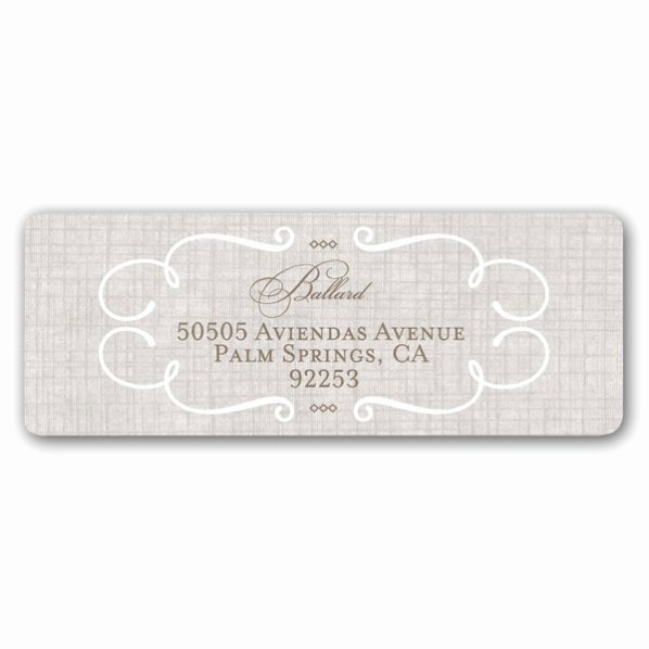 Wedding Return Address Label Templates Fresh Lovely Linen Wedding Return Address Labels