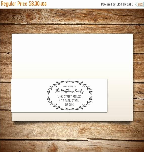 Wedding Return Address Label Templates Lovely Printable Address Label Template for A7 Envelopes by