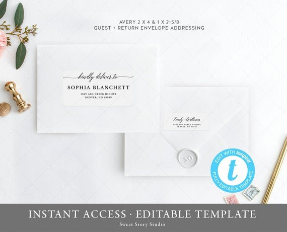 Wedding Return Address Label Templates Luxury Wedding Guest Addressing Return Address Label Template Set