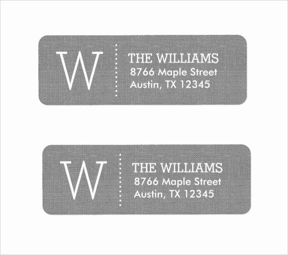 Wedding Return Address Label Templates New Free 6 Return Address Label Templates In Samples