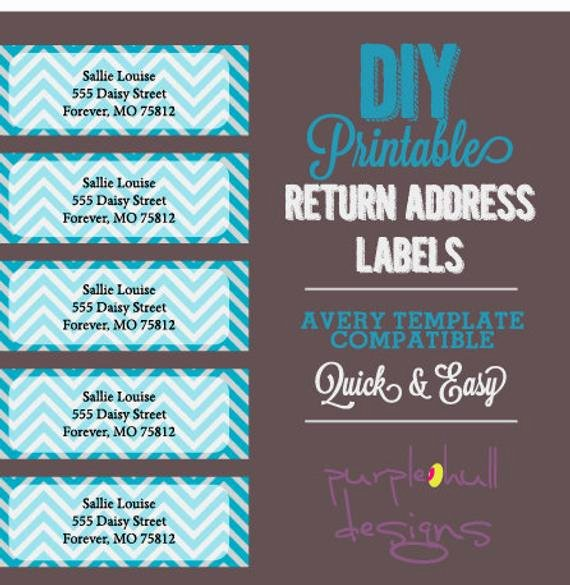 Wedding Return Address Labels Template Beautiful Chevron Return Address Labels Turquoise Gray Avery Template