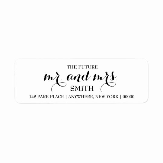 Wedding Return Address Labels Template Elegant Very Best Future Mr and Mrs Address Labels &gr62 – Advancedmassagebysara