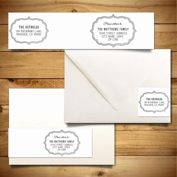 Wedding Return Address Labels Template Inspirational Printable Address Label Template for A7 Envelopes Return Address Diy Wedding Template