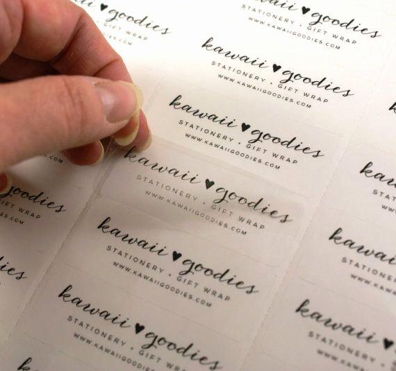 Wedding Return Address Labels Template Luxury Custom Print Clear Address Labels 2 5 8 X 1 Transparent Custom Labels On Etsy by Kawaiigoo S