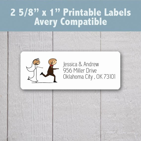 Wedding Return Address Labels Template Luxury Items Similar to Wedding Address Labels Bride and Groom Return Address Labels Printable Return